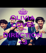 OLIVIA LOVES ONE DIRECTION <3 - Personalised Poster A4 size