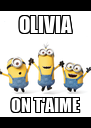 OLIVIA ON T'AIME - Personalised Poster A4 size