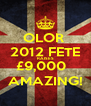 OLOR  2012 FETE RAISES £9,000   AMAZING! - Personalised Poster A4 size