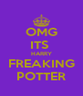 OMG ITS  HARRY FREAKING POTTER - Personalised Poster A4 size