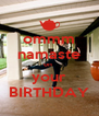 ommm namaste on  your BIRTHDAY - Personalised Poster A4 size