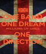 ONE BAND ONE DREAM MILLIONS OF GIRLS ONE  DIRECTION - Personalised Poster A4 size
