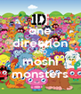 one direction AND moshi monsters - Personalised Poster A4 size