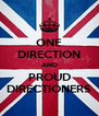 ONE DIRECTION AND PROUD DIRECTIONERS - Personalised Poster A4 size