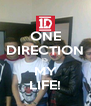 ONE DIRECTION IS MY LIFE! - Personalised Poster A4 size