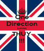 One Direction Loves THUY !!! - Personalised Poster A4 size