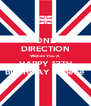 ONE DIRECTION Wishes You A HAPPY 13TH BIRTHDAY Jadene - Personalised Poster A4 size