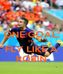 ONE GOAL: TO FLY LIKE A ROBIN - Personalised Poster A4 size