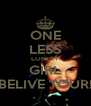 ONE LESS LONELY GIRL BELIVE TOUR! - Personalised Poster A4 size