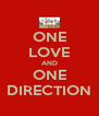 ONE LOVE AND ONE DIRECTION - Personalised Poster A4 size