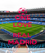 ONE LOVE  REAL MADRID - Personalised Poster A4 size