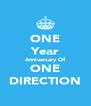 ONE Year Anniversary Of ONE DIRECTION - Personalised Poster A4 size