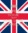OPEN YOUR  HEART AND LOVE  ONE DIRECTION! - Personalised Poster A4 size