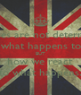 our lives are not determined  by what happens to us BUT how we react to what happens. - Personalised Poster A4 size