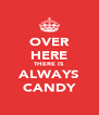 OVER HERE THERE IS ALWAYS CANDY - Personalised Poster A4 size