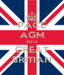 PACE AGM 2012 GREAT BRITIAN - Personalised Poster A4 size