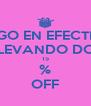PAGO EN EFECTIVO LLEVANDO DOS 15 % OFF - Personalised Poster A4 size