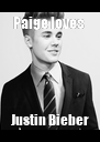 Paige loves  Justin Bieber - Personalised Poster A4 size