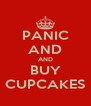 PANIC AND AND BUY CUPCAKES - Personalised Poster A4 size
