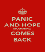 PANIC AND HOPE MOURHINO COMES BACK - Personalised Poster A4 size