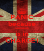 PANIC because SANDRA is in CHARGE ! - Personalised Poster A4 size