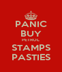 PANIC BUY PETROL STAMPS PASTIES - Personalised Poster A4 size