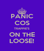 PANIC COS TRAPPIE'S ON THE LOOSE! - Personalised Poster A4 size