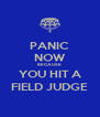 PANIC NOW BECAUSE YOU HIT A FIELD JUDGE - Personalised Poster A4 size