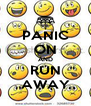PANIC ON AND RUN AWAY - Personalised Poster A4 size