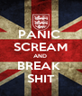 PANIC  SCREAM AND  BREAK  SHIT - Personalised Poster A4 size