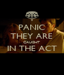 PANIC THEY ARE CAUGHT IN THE ACT  - Personalised Poster A4 size