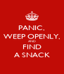 PANIC, WEEP OPENLY, AND FIND A SNACK - Personalised Poster A4 size