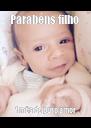 Parabéns filho  1 mês de puro amor - Personalised Poster A4 size