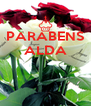 PARABENS ALDA    - Personalised Poster A4 size