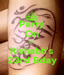 Party On It's Rishabh's 23rd Bday - Personalised Poster A4 size