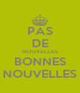PAS DE NOUVELLES BONNES NOUVELLES - Personalised Poster A4 size