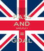PASS AND SHOOT = GOAL - Personalised Poster A4 size