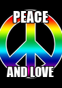 PEACE AND LOVE - Personalised Poster A4 size