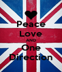 Peace Love AND One Direction - Personalised Poster A4 size