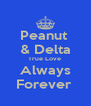 Peanut  & Delta True Love  Always Forever  - Personalised Poster A4 size