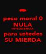 peso moral 0 NULA INTELIGENCIA para ustedes SU MIERDA - Personalised Poster A4 size