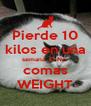 Pierde 10 kilos en una semana. El No  comas WEIGHT - Personalised Poster A4 size