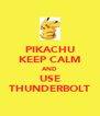 PIKACHU KEEP CALM AND USE THUNDERBOLT - Personalised Poster A4 size