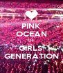 PINK OCEAN OF GIRLS' GENERATION - Personalised Poster A4 size