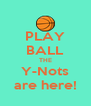 PLAY BALL THE Y-Nots are here! - Personalised Poster A4 size