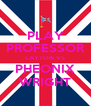 PLAY PROFESSOR LAYTON VS PHEONIX WRIGHT - Personalised Poster A4 size