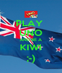 PLAY  UNO AND BE A KIWI ;-) - Personalised Poster A4 size
