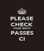 PLEASE CHECK YOUR REPO PASSES CI - Personalised Poster A4 size