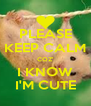 PLEASE KEEP CALM COZ' I KNOW I'M CUTE - Personalised Poster A4 size