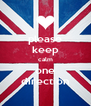 please keep calm one direction - Personalised Poster A4 size
